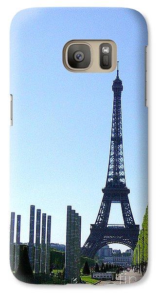 Galaxy Case featuring the photograph Eiffel Tower by Deborah Smolinske