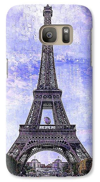 Galaxy Case featuring the photograph Eiffel Tower Paris by Kathy Churchman