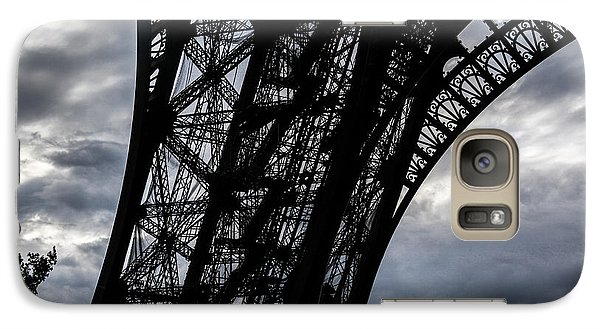 Galaxy Case featuring the photograph Eiffel Tower Storm by Ross Henton