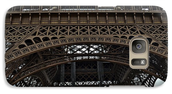Galaxy Case featuring the photograph Eiffel Tower - The Forgotten Names by Allen Sheffield