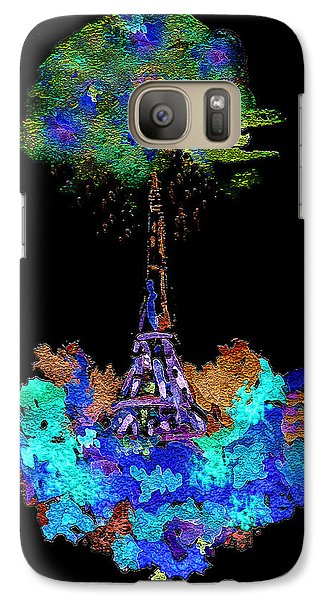 Galaxy Case featuring the painting Eiffel Tower Topiary by Paula Ayers