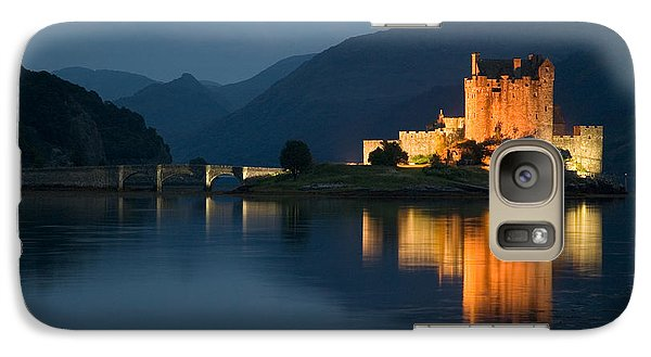Galaxy Case featuring the photograph Eilean Donan Castle At Night by Jeremy Voisey