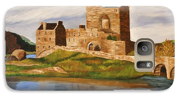 Galaxy Case featuring the painting Eilean Donan Castle by Christy Saunders Church