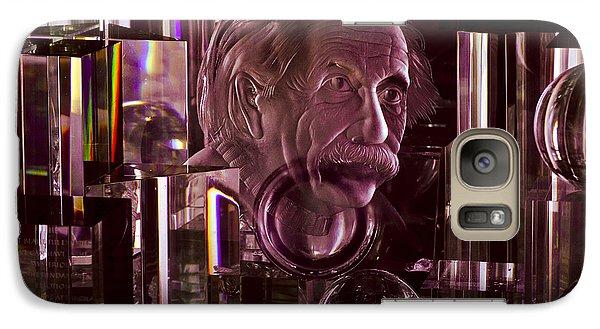 Einstein In Crystal - Purple Galaxy S7 Case