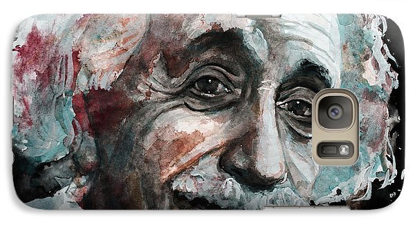 Galaxy Case featuring the painting Einstein  by Laur Iduc