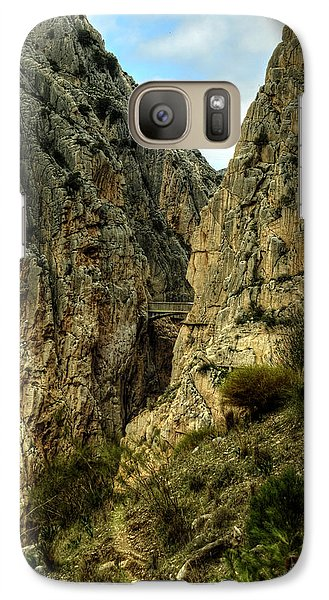 Galaxy Case featuring the photograph El Chorro View Of The Railway Bridge by Julis Simo