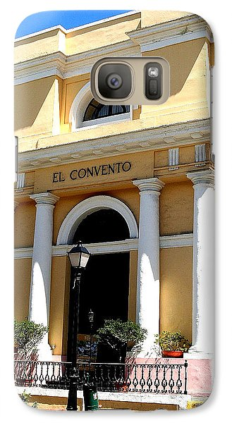 Galaxy Case featuring the photograph El Convento Hotel by The Art of Alice Terrill