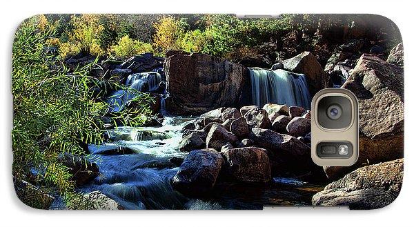 Galaxy Case featuring the photograph El Dorado Falls by Jim Garrison