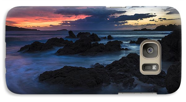 Galaxy Case featuring the photograph El Villar Beach Galicia Spain by Pablo Avanzini