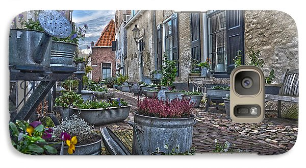 Galaxy Case featuring the photograph Elburg Alley by Frans Blok