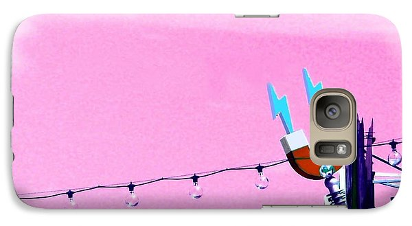 Galaxy Case featuring the digital art Electric Pink by Valerie Reeves