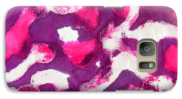 Galaxy Case featuring the painting Electric Purple by Joan Reese