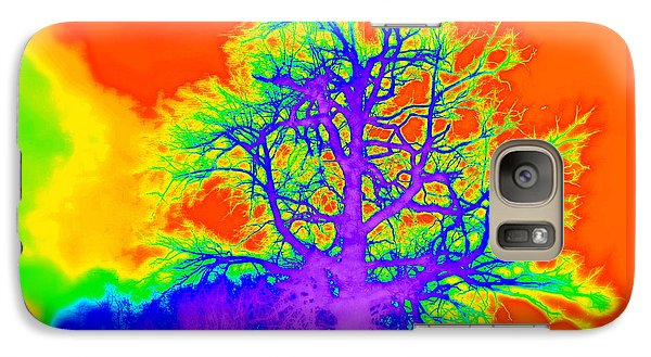 Galaxy Case featuring the photograph Electric Tree by Jodie Marie Anne Richardson Traugott          aka jm-ART