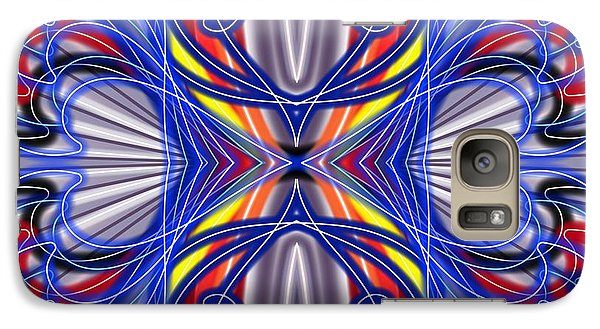 Galaxy Case featuring the digital art Electric Wave by Brian Johnson