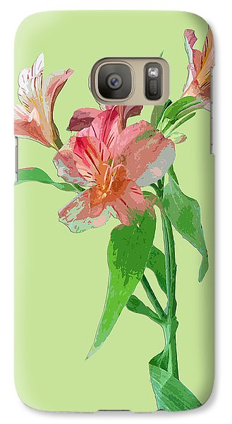 Galaxy Case featuring the photograph Elegance On Green by Karen Nicholson