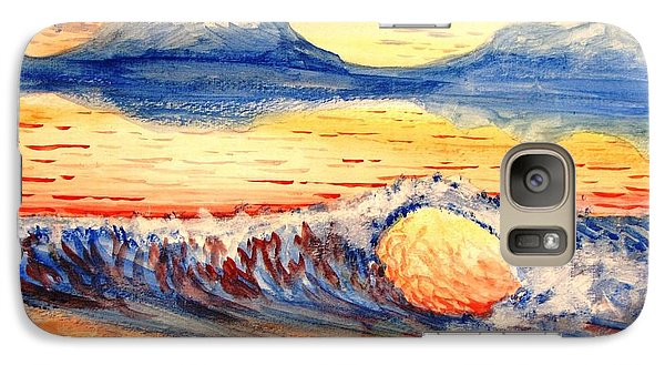 Galaxy Case featuring the painting Elegant Eclipse II by Kevin F Heuman