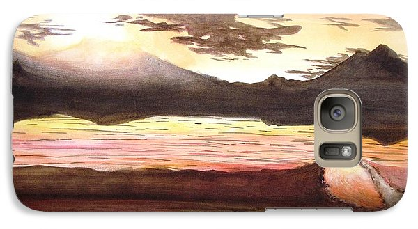 Galaxy Case featuring the painting Elegant Eclipse by Kevin F Heuman