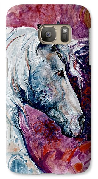 Galaxy Case featuring the painting Elegant Horse by Mary Armstrong