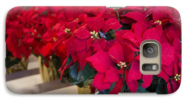 Galaxy Case featuring the photograph Elegant Poinsettias by Patricia Babbitt