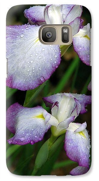 Galaxy Case featuring the photograph Elegant Purple Iris by Marie Hicks
