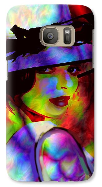 Galaxy Case featuring the digital art Elegant Woman In Shade by Diana Riukas