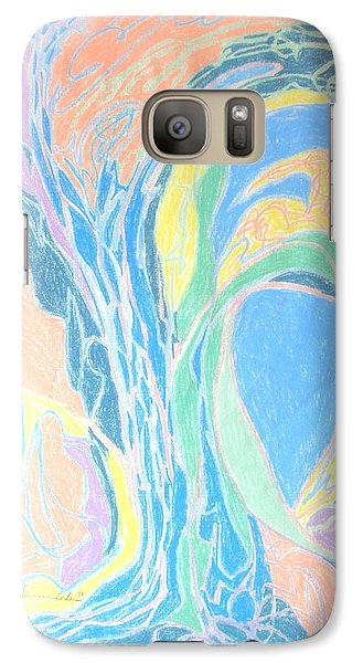 Galaxy Case featuring the painting Elegy To A Tree by Esther Newman-Cohen