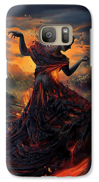 Elements - Fire Galaxy S7 Case by Cassiopeia Art
