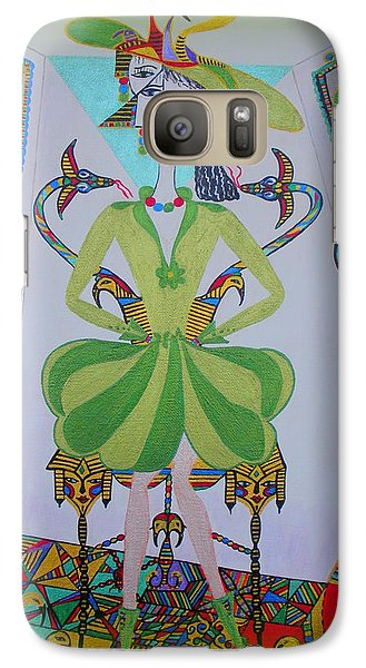Galaxy Case featuring the painting Eleonore Friend Princess Melisa by Marie Schwarzer