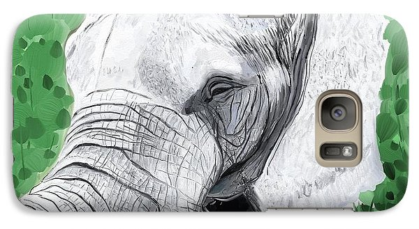 Galaxy Case featuring the painting Elephant 1 by Jeanne Fischer