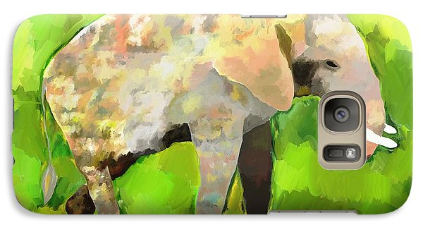 Galaxy Case featuring the painting Elephant 4 by Jeanne Fischer