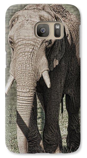 Galaxy Case featuring the photograph Elephant by Angel Jesus De la Fuente