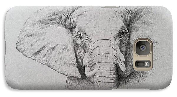 Elephant Galaxy S7 Case - Elephant by Ele Grafton