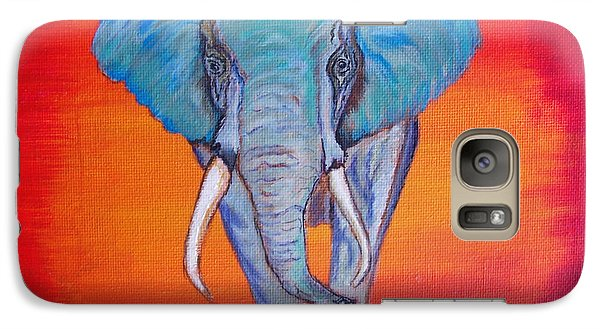 Galaxy Case featuring the painting Elephant Matriarch by Ella Kaye Dickey
