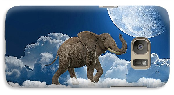 Elephant On Cloud 9 Galaxy Case by Marvin Blaine