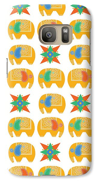 Elephant Print Galaxy S7 Case by Susan Claire