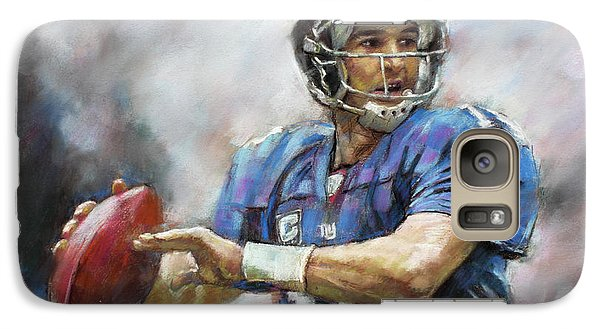 Galaxy Case featuring the drawing Eli Manning Nfl Ny Giants  by Viola El