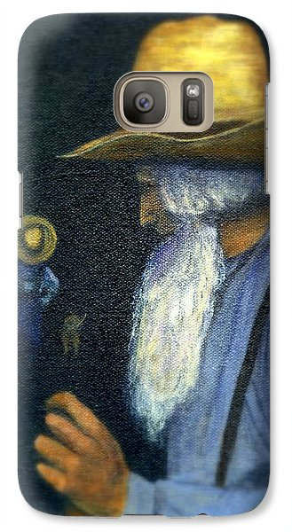 Galaxy Case featuring the painting Eli Remembers by Gail Kirtz