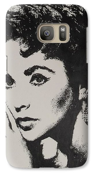 Galaxy Case featuring the painting Elizabeth Taylor  by Cherise Foster