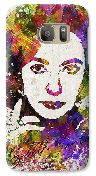 Elizabeth Taylor In Color Galaxy S7 Case