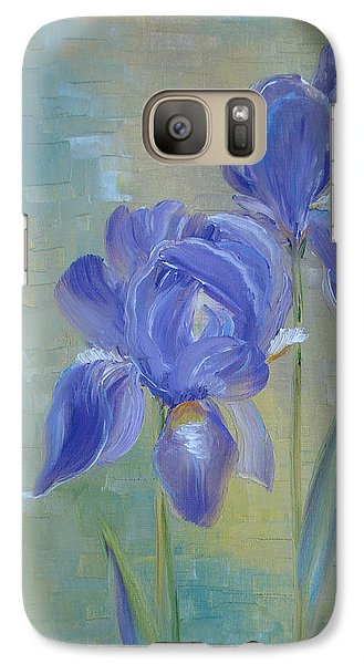 Galaxy Case featuring the painting Elizabeth's Irises by Judith Rhue