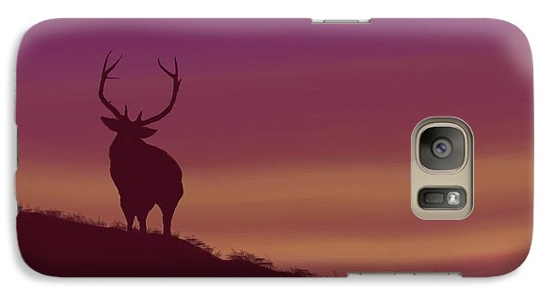 Galaxy Case featuring the digital art Elk At Dusk by Terry Frederick