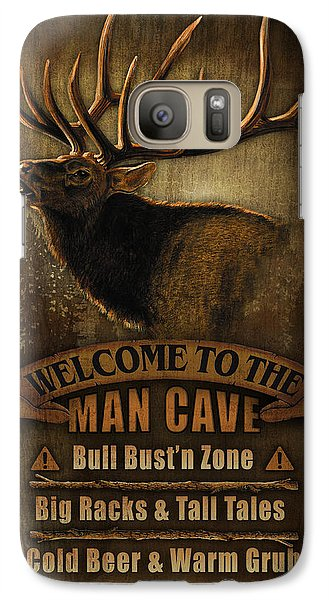 Turkey Galaxy S7 Case - Elk Man Cave Sign by JQ Licensing