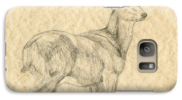 Galaxy Case featuring the drawing Elk by Mary Ellen Anderson
