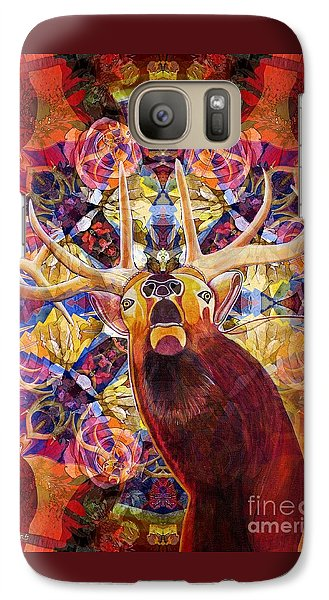 Galaxy Case featuring the painting Elk Spirits In The Garden by Joseph J Stevens