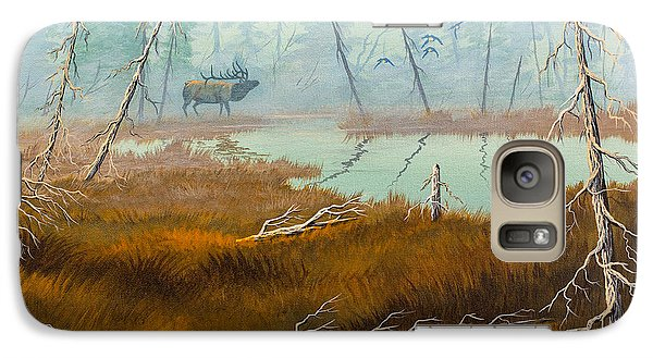 Galaxy Case featuring the painting Elk Swamp by Richard Faulkner