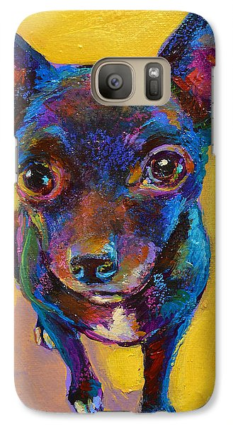 Galaxy Case featuring the painting Ella The Chihuahua by Robert Phelps