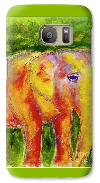 Galaxy Case featuring the painting Elle by Beth Saffer