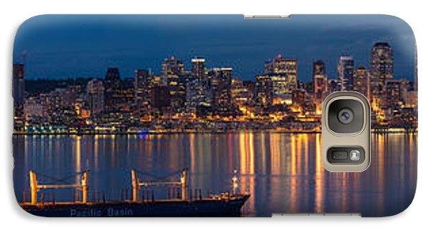 Elliott Bay Seattle Skyline Night Reflections  Galaxy S7 Case