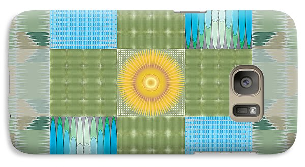 Galaxy Case featuring the digital art Ellipse Quilt 1 by Kevin McLaughlin