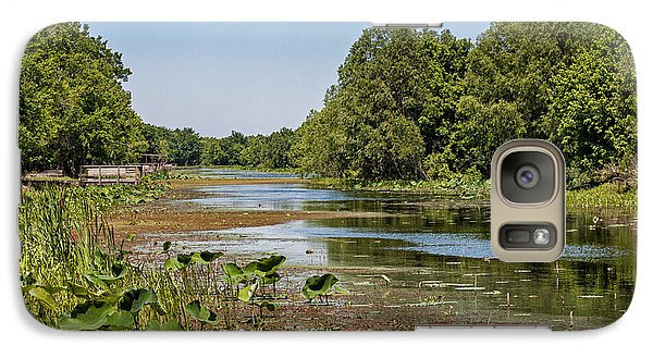 Galaxy Case featuring the photograph Elm Lake At Brazos Bend In Texas by Zoe Ferrie